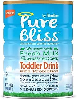 Similac ?#25490;?Pure Bliss 婴幼儿奶粉 源自草饲奶牛的鲜奶 (12-36个月) 31.8盎司(900g) 4罐装