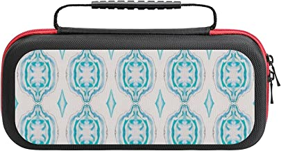 $26 » String Of Marbled Aqua Beads Case Compatible with Switch Case Protective Carry Bag Hard Shell Storage Bag Portable Travel ...