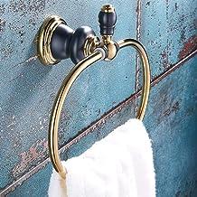 HLY Crochet porte-serviettes, porte-serviettes de salle de bain en cuivre or rose,A