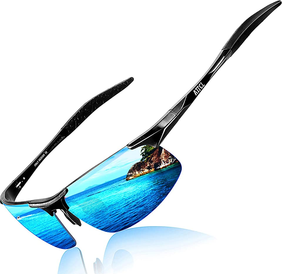 Men's Fashion Driving Polarized Sunglasses for Men - Al-Mg metal Ultralight Frame