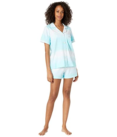 BedHead Pajamas Short Sleeve Classic Short Pajama Set (Cotton Spandex) (On Cloud Nine) Women