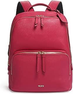 TUMI - Varek Hudson Leather Laptop Backpack - 14 Inch Computer Bag for Men and Women - Raspberry