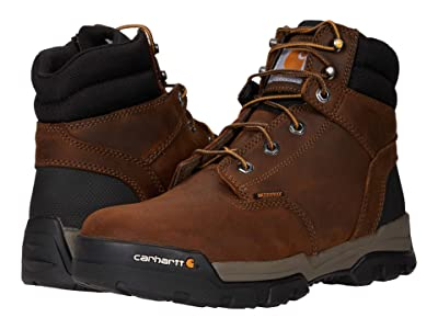Carhartt Ground Force 6 Waterproof Soft Toe (Bison Brown/Oil Tan) Men