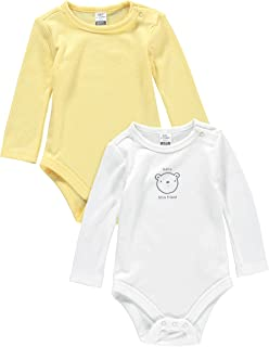 LC Waikiki Baby Boys' 2-Pack Long Sleeve Bodysuit with Snap Fasteners