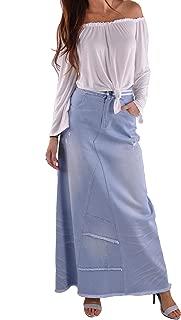 Style J Trendy Blue Long Jean Skirt