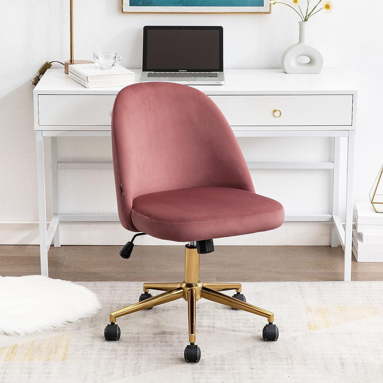 Duhome Cute Long Beach Mall Armless Home Office Desk Velvet Chair,Swivel Chair Super popular specialty store