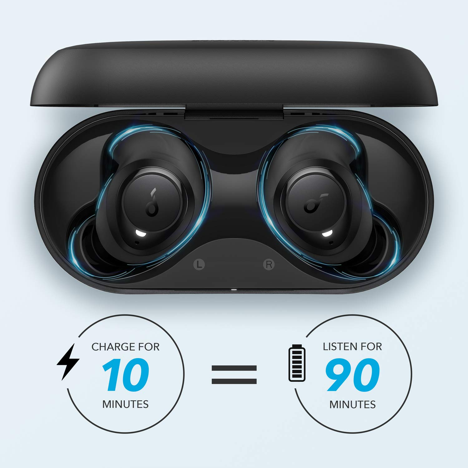 Bluetooth Earphones Anker Soundcore Life Dot 2 True Wireless Earbuds, 100 Hour Playtime, 8mm Drivers, Superior Sound, Secure Fit with AirWings, Comfortable Design Ear Buds for Commute, Sports, Jogging