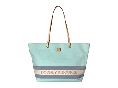 Dooney & Bourke Kittery Large Addison (Jade/Navy/Natural Trim) Handbags