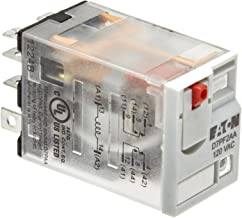 Eaton D7PF2AA General Purpose Relay, 15A Rated Current, DPDT Contact Configuration, 120VAC Coil Voltage, 3.83ohm Coil Resistance