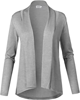 Khanomak Womens Long Sleeves Knit Open Front Cardigan