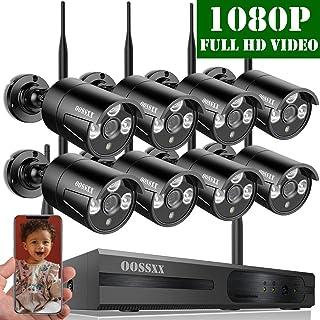 【2020 Nuevo】Sistema de Cámara de Video Seguridad 8 Canal 1080P NVR Kit de Videovigilancia CCTV 8 1080P IP Cámaras de Vigilancia WiFi Exterior Remoto Control de Seguridad Inalámbrico Sin Disco Duro