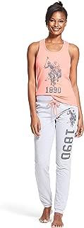 Womens 2 Piece Lounge Shirt Elastic Waist Pajama Yoga...