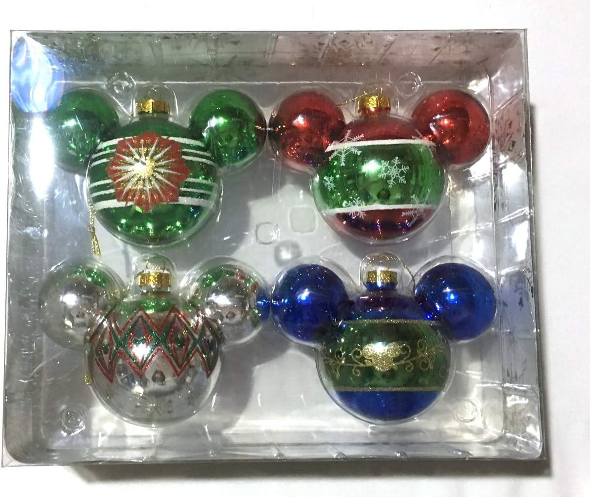 Amazon.com Disney Designer Christmas Ornament Set   Mickey Mouse ...