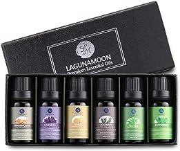 Lagunamoon Essential Oils,Top 6 Aromatherapy Oils Lavender Tea Tree Peppermint Rosemary Lemon Frankincense Therapeutic Essential Oil Set