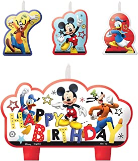 Mickey Mouse Candle, 4 Pieces