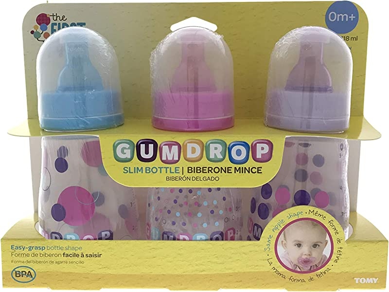 Gumdrop Slim Bottle 0m 3 Pieces Pink