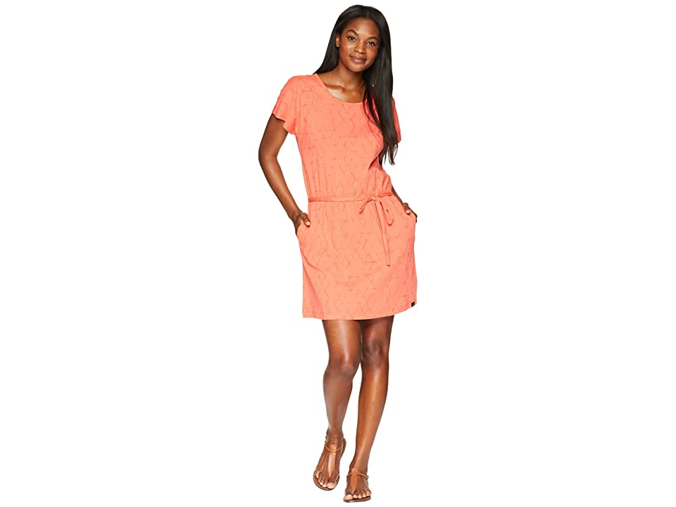 Jack Wolfskin Shibori Dress (Hot Coral All Over) Women
