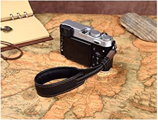Camera Accessories Handmade Genuine Leather Camera Wrist Strap Lanyard Mirrorless DC Wristband for A7SM2 A6300 XT10 XPRO2 ...
