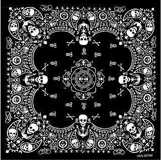 Bandana Teschio Skull Bianco/Nero 55 x 55 cm