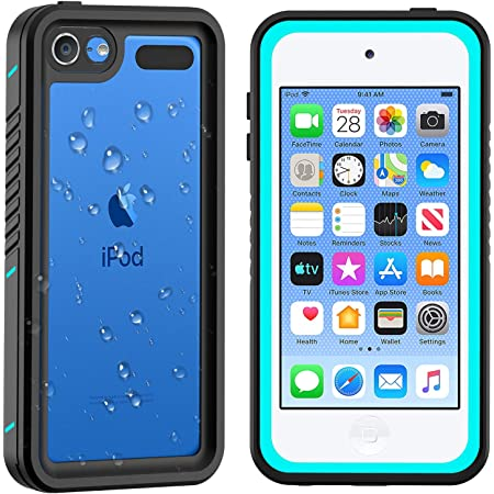 2019 New Shockproof Dirtproof Snowproof Full-Body Protective Case Cover Built-in Screen Protector Compatible iPod Touch 5th//6th//7th AJIA iPod 5 iPod 6 iPod 7 Waterproof Case