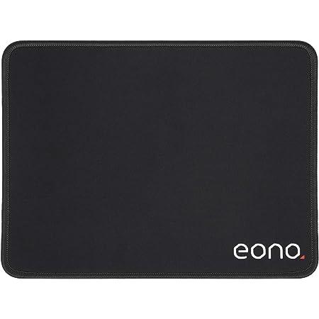 [Amazonブランド] Eono(イオーノ) - マウスパッド 小型 レーザー 光学マウス対応 オフィス 防水 滑り止め 耐久性が良い おしゃれ - ブラック