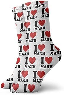 yting, I Love Math Calcetines informales acolchados para niños, adolescentes, hombres, mujeres, entrenamiento, deportes