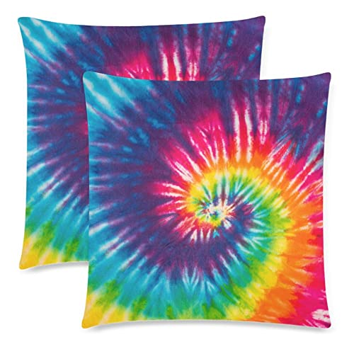 2e730ef149c5 InterestPrint 2 Pack Abstract Swirl Tie Dye Pillowcase Pillow Cover 18x18  Twin Sides