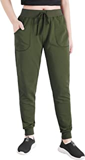 Women's Cotton Joggers Jersey Sweatpants with Pockets