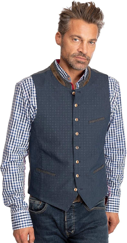 OS-Trachten Traditional Waistcoat KREUZECK Blue