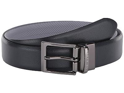 Ted Baker Strami Reversible Leather Belt (Navy) Men