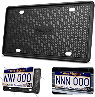 Silicone License Plate Frame Scratch-Resistant Rust-Proof Car License Cover Cadre De Plaque D'Immatriculation En Silicone ...
