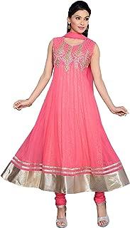 Darshi Fashion Women Net Anarkali salwar suits, (dn3805, Light Pink, 36)