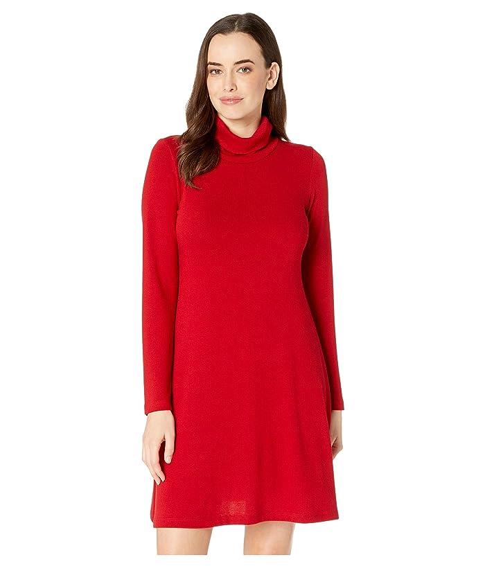 Karen Kane Turtleneck Sweater Dress (Red) Women