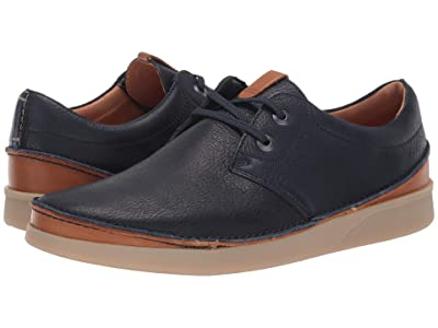 Clarks Oakland Lace (Navy Leather) Men