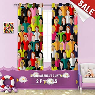 Big datastore home Custom Made Curtain, Community Society Population Audience Target Audience Crowd Target Appearance Background Business 55 x 40 inch Grommet Children's Small Curtains