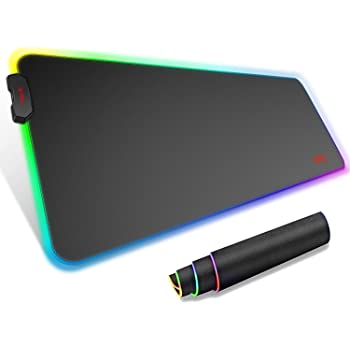 Havit RGB Gaming Mouse Pad Soft Non-Slip Rubber Base Mouse Mat for Laptop Computer PC Games (Large)