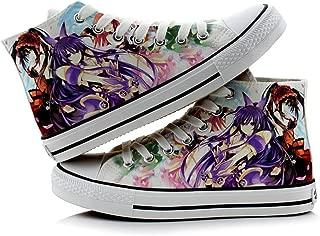 Date A Live Yatogami Tohka Tokisaki Kurumi Cosplay Shoes Canvas Shoes Sneakers Colourful