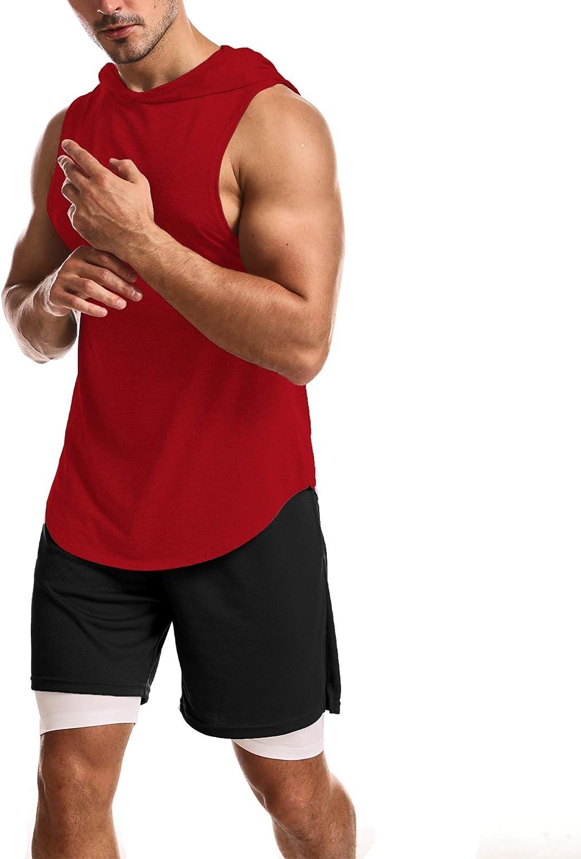 OA ONRUSH AESTHETICS Workout Muscle Sleeveless Hoodies Athletic Gym Sleeveless Hooded Shirts
