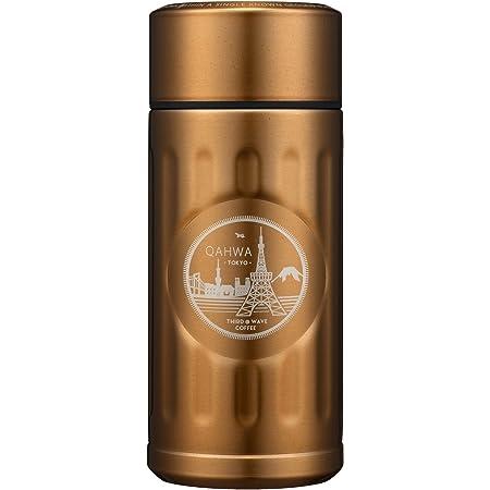 シービージャパン 水筒 ゴールド 200ml 直飲み ステンレス ボトル 真空 断熱 カフア コーヒー ボトル QAHWA