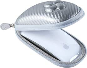 Koonice Hard Case Compatible for Apple Magic Mouse (I and II 2nd Gen) Including Carabiner (Silver)