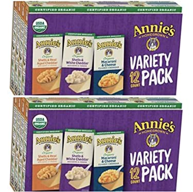 Annies Homegrown Organic Macaroni and Cheese Variety Pack, 12 ct./6 oz.( 2 PACK)