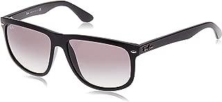 RAY-BAN RB4147 Boyfriend Square Sunglasses, Black/Grey Gradient, 60 mm