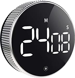 OVEKI Kitchen Timer, Magnetic Countdown LED Digital Timer,Twist One Button Operation for Teacher Kids and Elderly,for Clas...