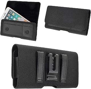 DFV mobile - Nylon New Design Case Metal Belt Clip Horizontal Textile and Leather for => VKWORLD T1 PLUS > Black