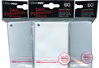 Ultra Pro Card Supplies YuGiOh Sized Deck Protector Sleeves White 60 Count x3