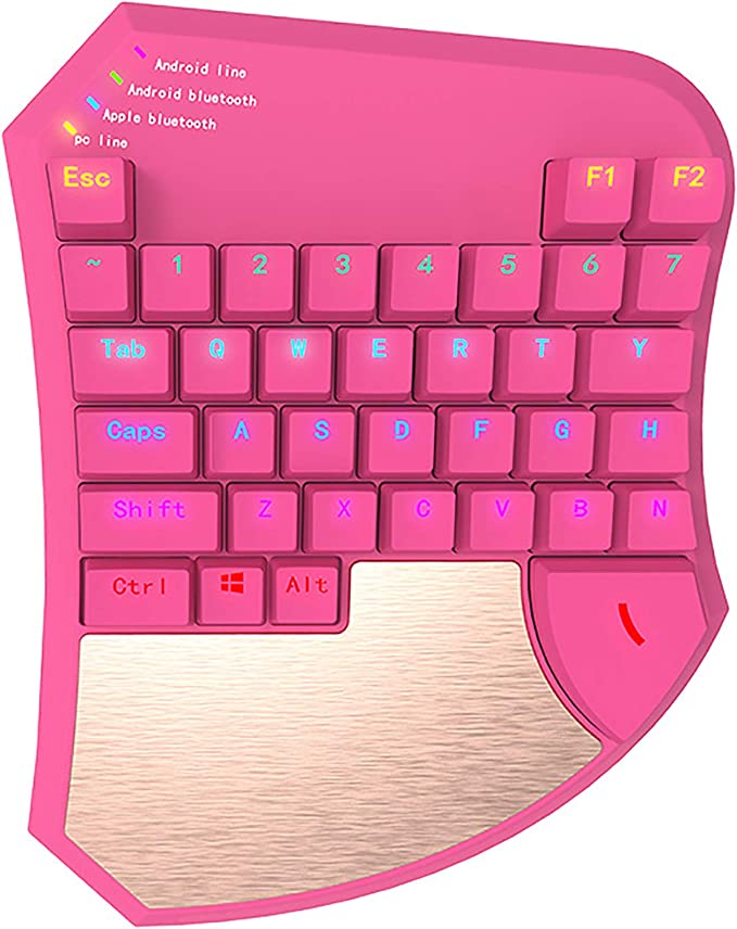 RK-Game16 de una mano teclado para juegos, para zurdos ...