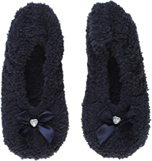 Ajvani Women's Ladies Fleece Winter Slippers Socks Size