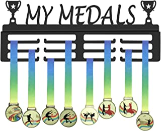 GENOVESE My Medals Hanger,Sport Medal Display Rack,Matte Black Metal Hangers,Trophies Holders,Awards Hook