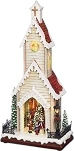"19"" LED Musical Rotating Christmas Tree Church Battery Operated Figurine"