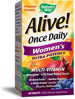Nature's Way Alive Once Daily Women's Multi Ultra Potency Tablets, 60 Count